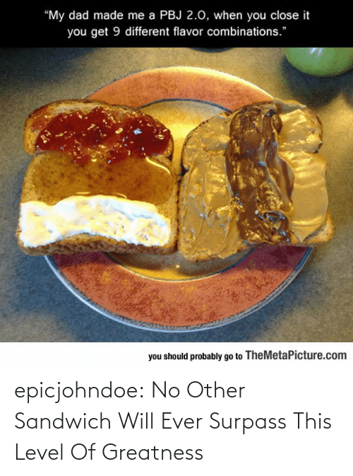 will: epicjohndoe:  No Other Sandwich Will Ever Surpass This Level Of Greatness