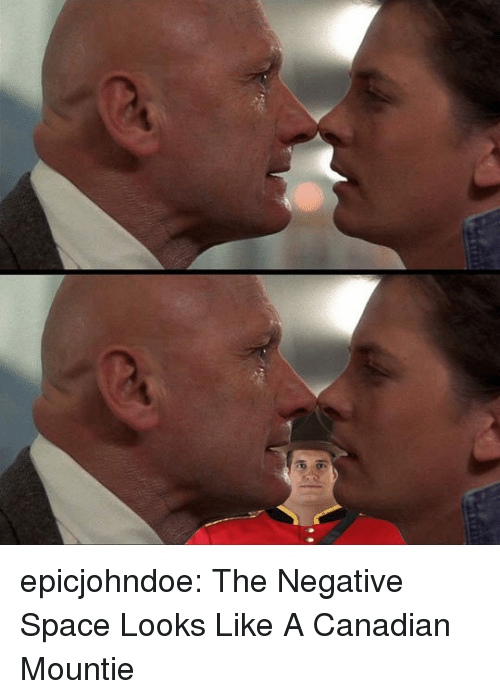Tumblr, Blog, and Space: epicjohndoe:  The Negative Space Looks Like A Canadian Mountie