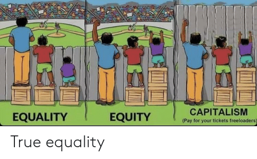 equity: EQUALITY  EQUITY  CAPITALISM  (Pay for your tickets freeloaders) True equality