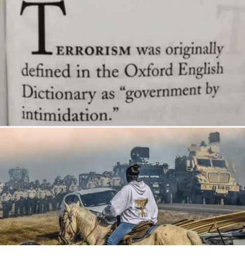 "Memes, Define, and Dictionary: ERRORISM was originally  defined in the Oxford English  Dictionary as ""government by  intimidation."