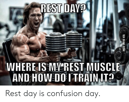 How, Rest, and Est: EST D  WHERE IS MY'REST MUSCLE  AND HOW DO ITRAIN IT Rest day is confusion day.