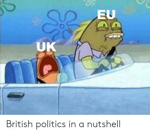 Politics, SpongeBob, and British: EU  UK British politics in a nutshell
