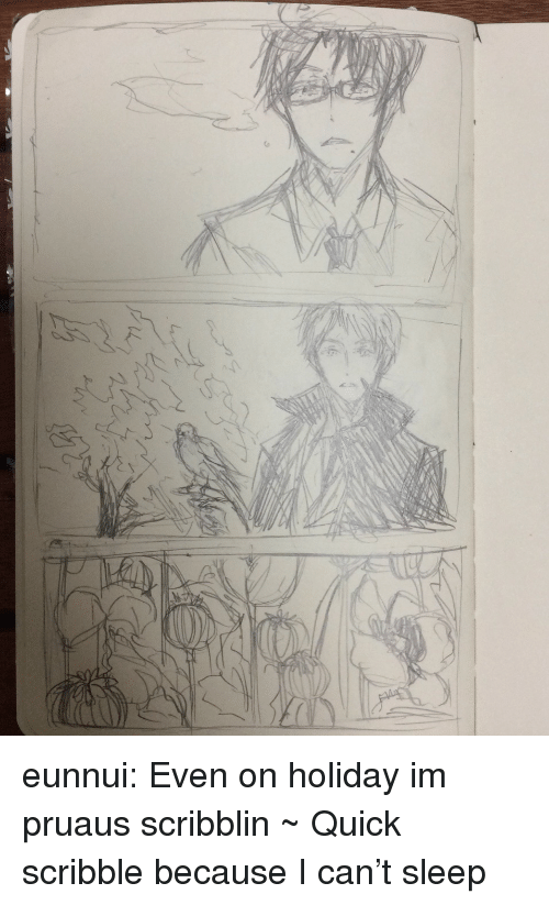 On Holiday: eunnui:  Even on holiday im pruaus scribblin ~  Quick scribble because I can't sleep