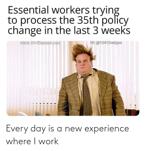 Where I: Every day is a new experience where I work