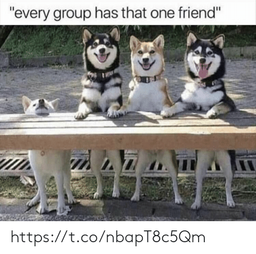 "That One Friend: ""every group has that one friend"" https://t.co/nbapT8c5Qm"