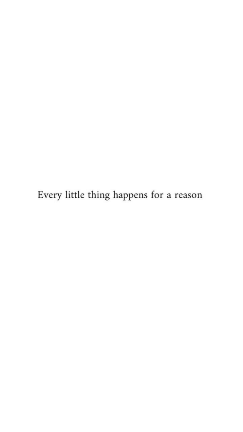 Reason, Thing, and For: Every little thing happens for a reason