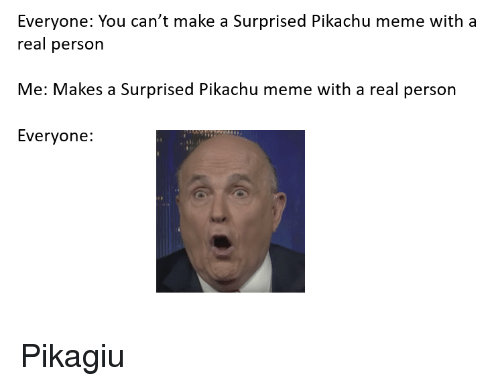Meme, Pikachu, and Reddit: Everyone: You can't make a Surprised Pikachu meme with a  real person  Me: Makes a Surprised Pikachu meme with a real person  Everyone: