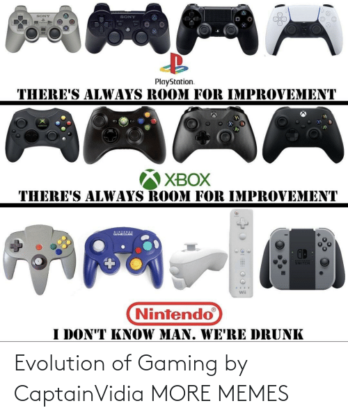 Evolution: Evolution of Gaming by CaptainVidia MORE MEMES