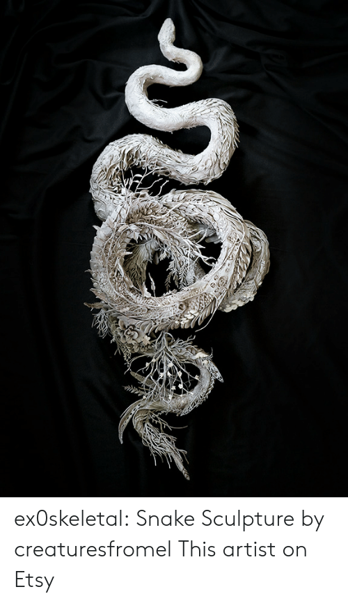 Tumblr, Blog, and Deviantart: ex0skeletal: Snake Sculpture  by creaturesfromel   This artist on Etsy