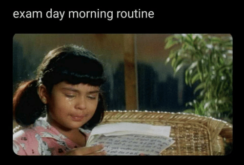 morning routine: exam day morning routine