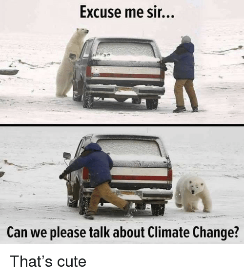 Cute, Change, and Climate Change: Excuse me sir...  A-  Can we please talk about Climate Change? That's cute