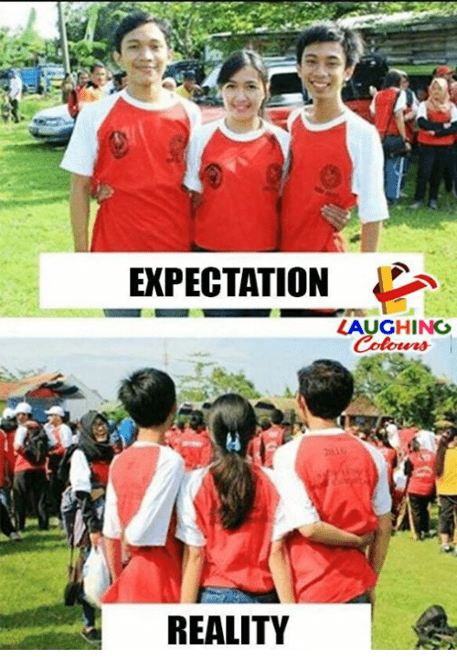 Reality, Indianpeoplefacebook, and Expectation: EXPECTATION  LAUGHING  24  REALITY