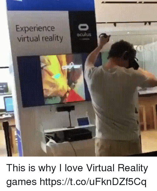 Virtual Reality: Experience  virtual reality  oculus This is why I love Virtual Reality games https://t.co/uFknDZf5Cq