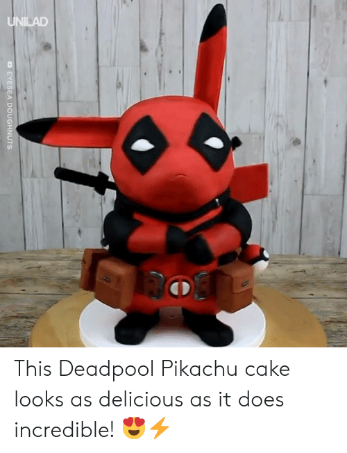 Deadpool: EYESEA DOUGHNUTS This Deadpool Pikachu cake looks as delicious as it does incredible! 😍⚡️