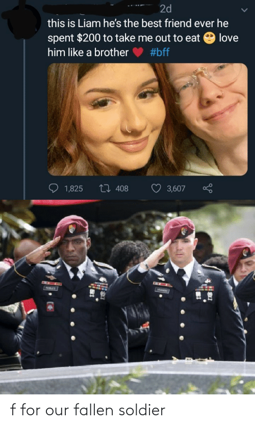soldier: f for our fallen soldier