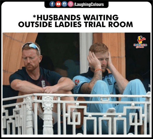Waiting..., Indianpeoplefacebook, and Room: f /LaughingColours  *HUSBANDS WAITING  OUTSIDE LADIES TRIAL ROOM  AGHING