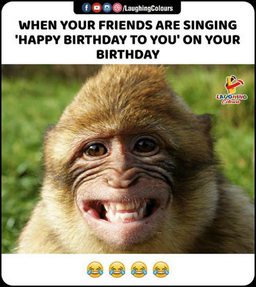 Birthday, Friends, and Singing: f /LaughingColours  WHEN YOUR FRIENDS ARE SINGING  'HAPPY BIRTHDAY TO YOU' ON YOUR  BIRTHDAY  LAUGHING  Colours