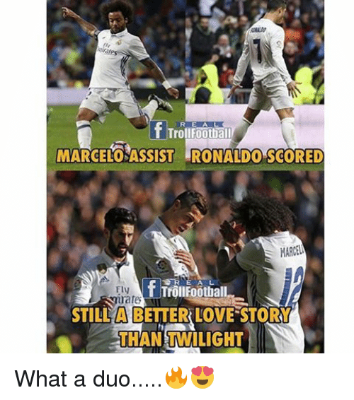 Memes, Twilight, and 🤖: f Troll Football  MARCELOSASSIST ROMAND0 SCORED  MARVEL  FIN  rates  STILL A BETTER LOVE STORY  THAN TWILIGHT What a duo.....🔥😍