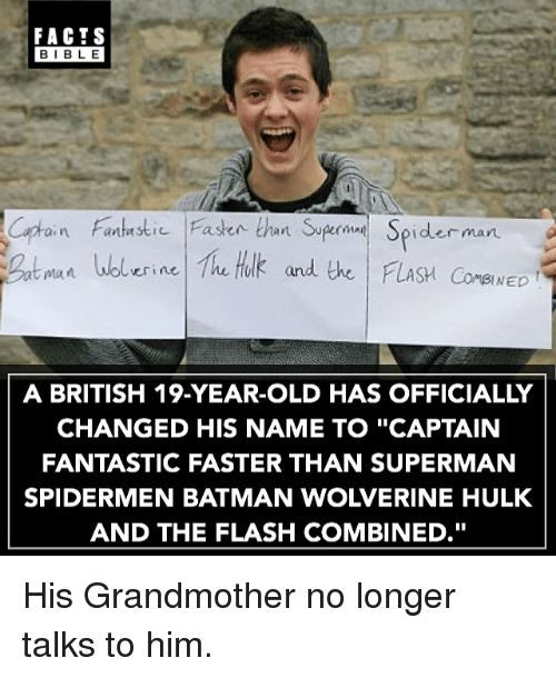 """Captain Fantastic: FACTS  BIBLE  Captain Fanhaskic 