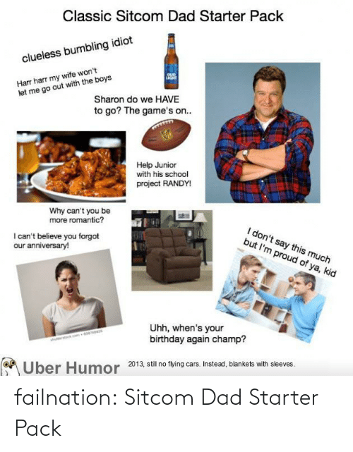 Dad: failnation:  Sitcom Dad Starter Pack