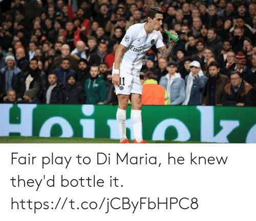Soccer, Di Maria, and Play: Fair play to Di Maria, he knew they'd bottle it. https://t.co/jCByFbHPC8