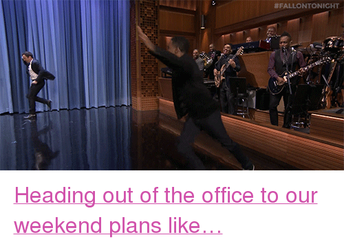 "Weekend Plans: <p><a href=""https://www.youtube.com/watch?v=vTuVoxYuGfA&amp;list=UU8-Th83bH_thdKZDJCrn88g"" target=""_blank"">Heading out of the office to our weekend plans like&hellip;</a></p>"