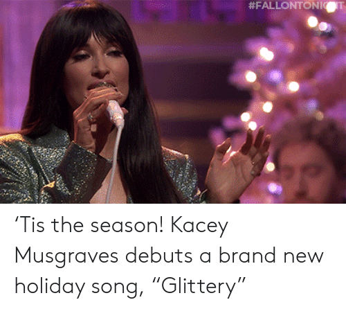 """brand new: 'Tis the season! Kacey Musgraves debuts a brand new holiday song, """"Glittery"""""""