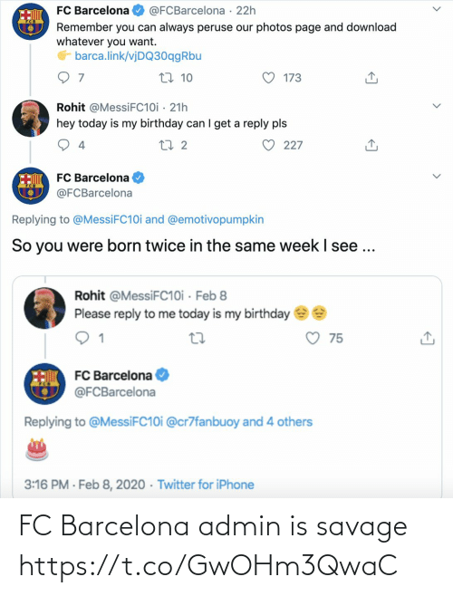 Savage: FC Barcelona admin is savage https://t.co/GwOHm3QwaC