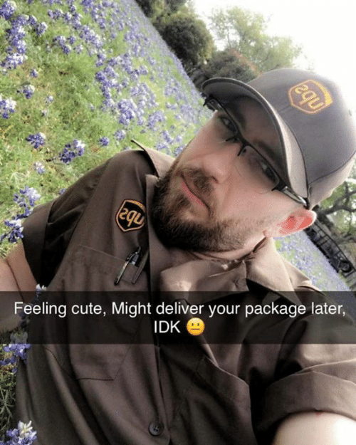 Cute, Memes, and 🤖: Feeling cute, Might deliver your package later  IDK