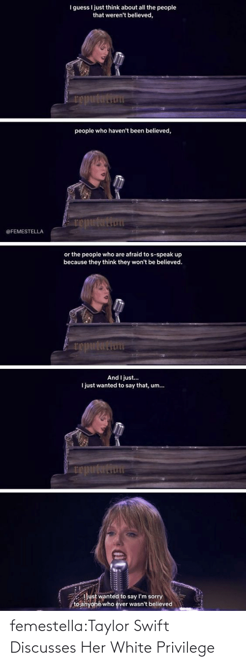 Taylor Swift: femestella:Taylor Swift Discusses Her White Privilege