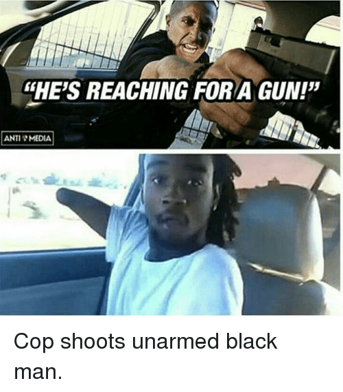 Fhes Reaching For A Gun Anti Media Cop Shoots Unarmed Black Man