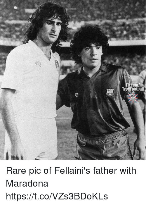 Rareness: Fi.com  TrollFoothall Rare pic of Fellaini's father with Maradona https://t.co/VZs3BDoKLs