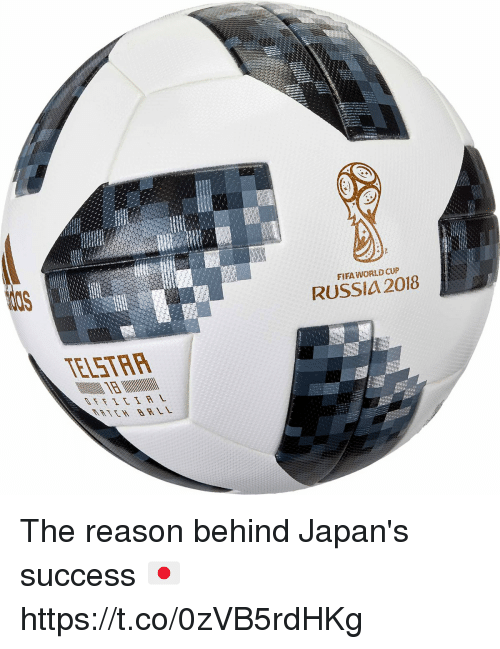 Fifa, Memes, and World Cup: FIFA WORLD CUP  RUSSIA 2018  ELSTRP  RTEH BRL The reason behind Japan's success 🇯🇵️ https://t.co/0zVB5rdHKg