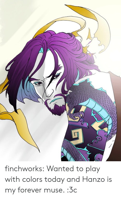Muse: finchworks:  Wanted to play with colors today and Hanzo is my forever muse. :3c