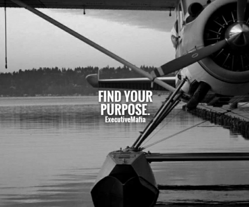 Find, Purpose, and Your: FIND YOUR  PURPOSE.  ExecutiveMafia