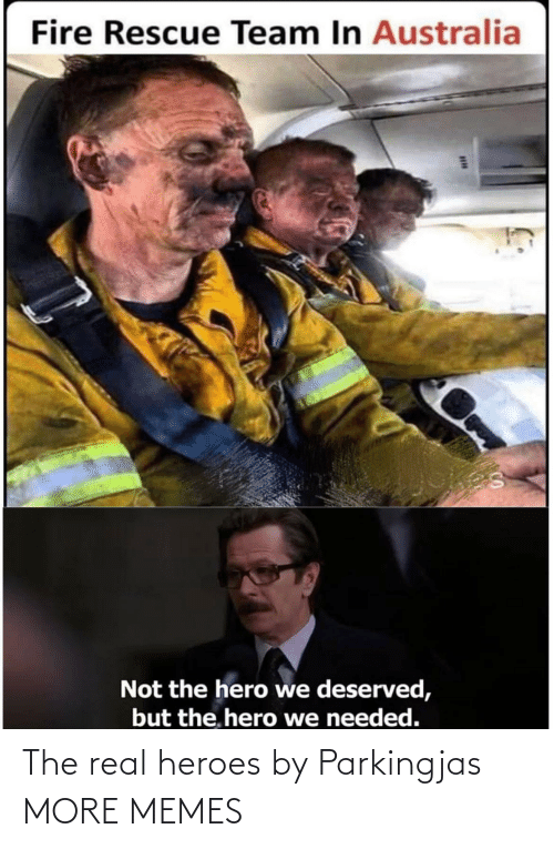 Heroes: Fire Rescue Team In Australia  Not the hero we deserved,  but the. hero we needed. The real heroes by Parkingjas MORE MEMES