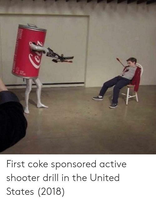 United, United States, and Coke: First coke sponsored active shooter drill in the United States (2018)