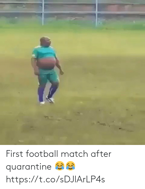 Match: First football match after quarantine 😂😂 https://t.co/sDJlArLP4s