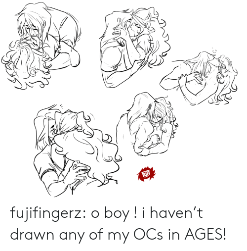 Tumblr, Blog, and Boy: FJi fujifingerz:  o boy ! i haven't drawn any of my OCs in AGES!