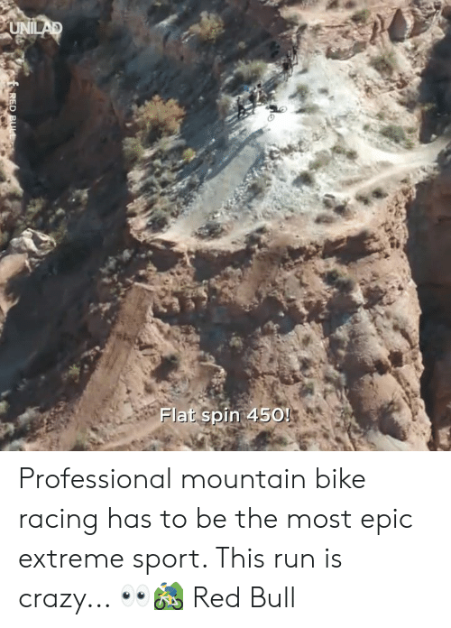 extreme sport: Flat spin 450! Professional mountain bike racing has to be the most epic extreme sport. This run is crazy... 👀🚵‍♂️  Red Bull