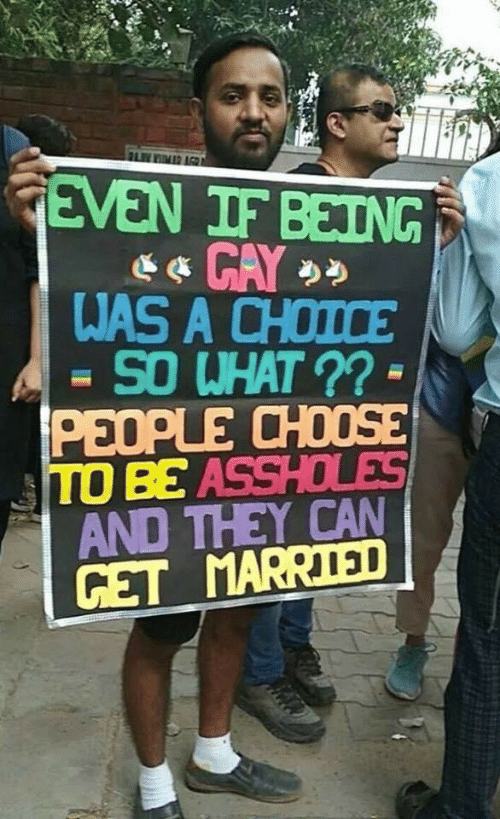Can Get: FLIMR AGR  GEVEN IF BEING  WAS A CHOICE  SO WHAT ?? -  PEOPLE CHOOSE  TO BE ASSHOLES  AND THEY CAN  GET MARRIED