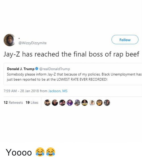 Follow Jay-Z Has Reached the Final Boss of Rap Beef Donald ...