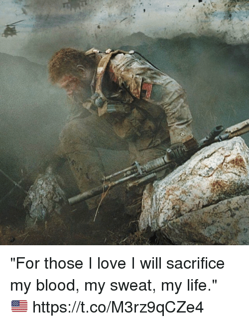 "Life, Love, and Memes: ""For those I love I will sacrifice my blood, my sweat, my life."" 🇺🇸 https://t.co/M3rz9qCZe4"