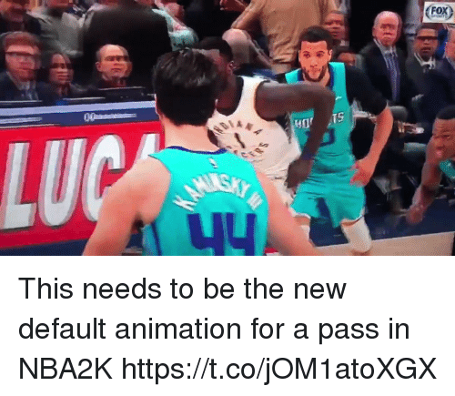 Sports, Animation, and New: (For)  TS This needs to be the new default animation for a pass in NBA2K https://t.co/jOM1atoXGX
