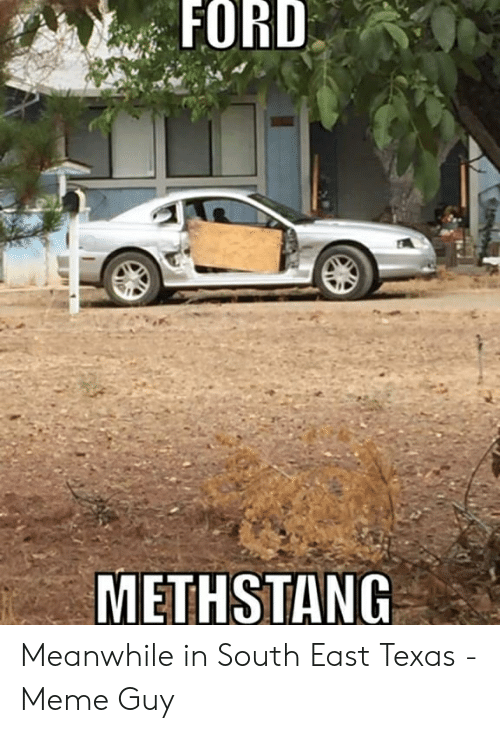Texas Meme: FORD  METHSTANG Meanwhile in South East Texas - Meme Guy
