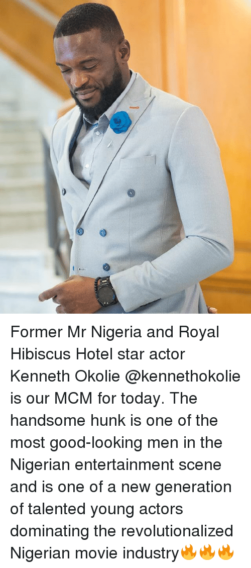 Memes, Good, and Hibiscus: Former Mr Nigeria and Royal Hibiscus Hotel star actor Kenneth Okolie @kennethokolie is our MCM for today. The handsome hunk is one of the most good-looking men in the Nigerian entertainment scene and is one of a new generation of talented young actors dominating the revolutionalized Nigerian movie industry🔥🔥🔥