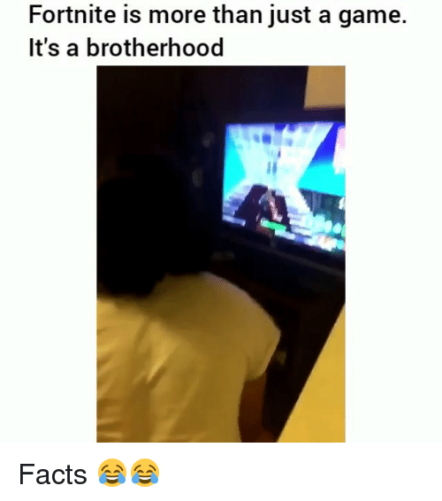 Facts, Funny, and Game: Fortnite is more than just a game.  It's a brotherhood Facts 😂😂