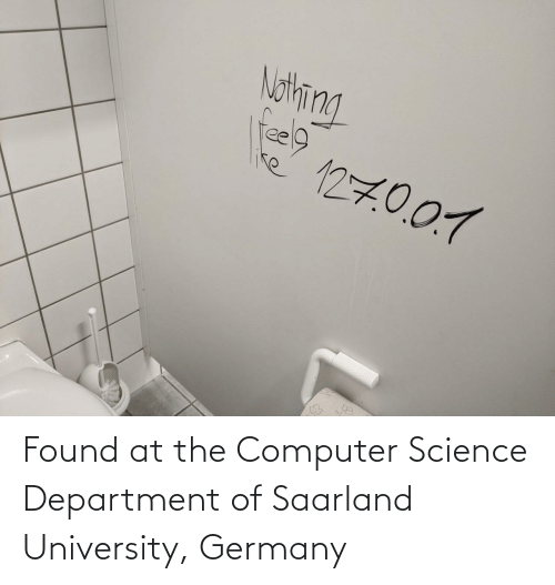 university: Found at the Computer Science Department of Saarland University, Germany