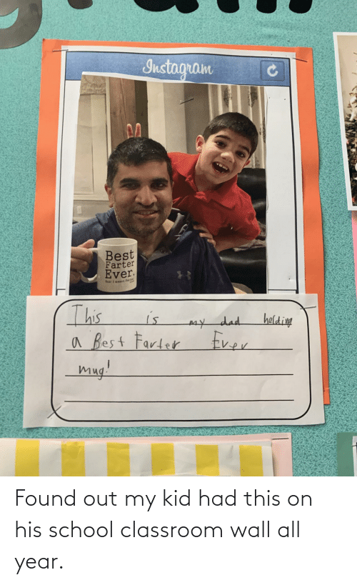 Classroom: Found out my kid had this on his school classroom wall all year.