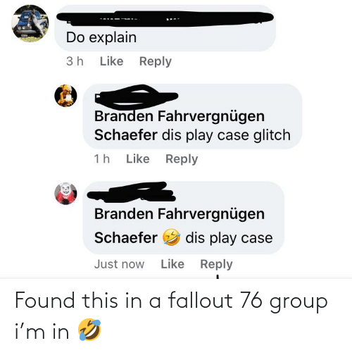 Fallout: Found this in a fallout 76 group i'm in 🤣